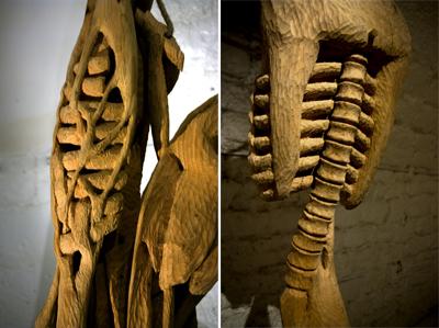 Hommes-Viande détails Galerie Marie Vitoux